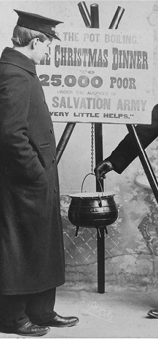 Early 1900s Image of Red Kettle Ringer